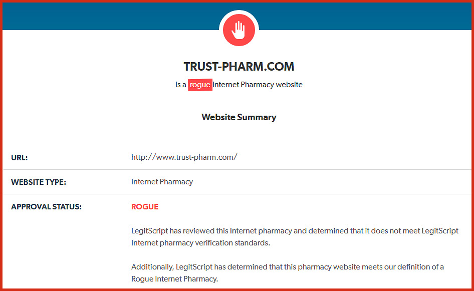 Trust-Pharm com Reviews - Not To Be Trusted