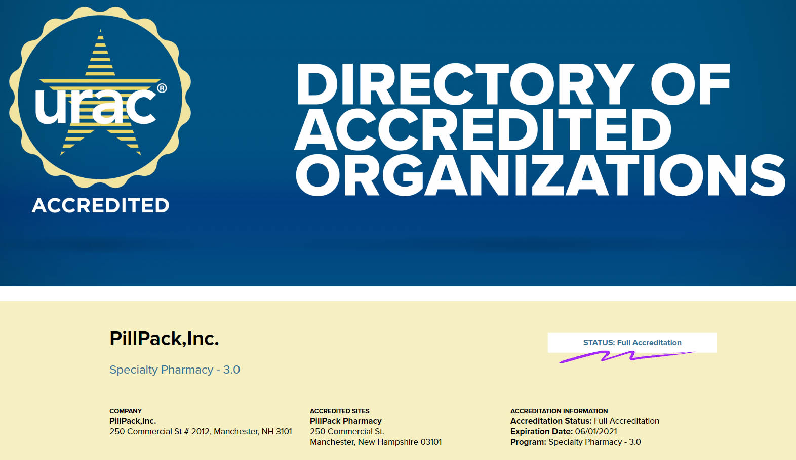 full accreditation