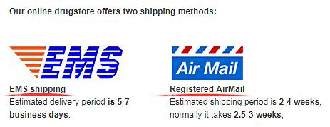 2 shipping methods