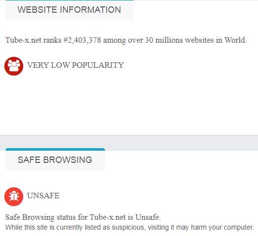 unsafe site